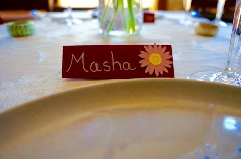 Name Card for Masha