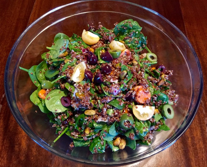 A Healthy Family Dinner: Spinach and Quinoa Salad