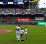 Watching Ryan Braun at a summer baseball game is bueno!