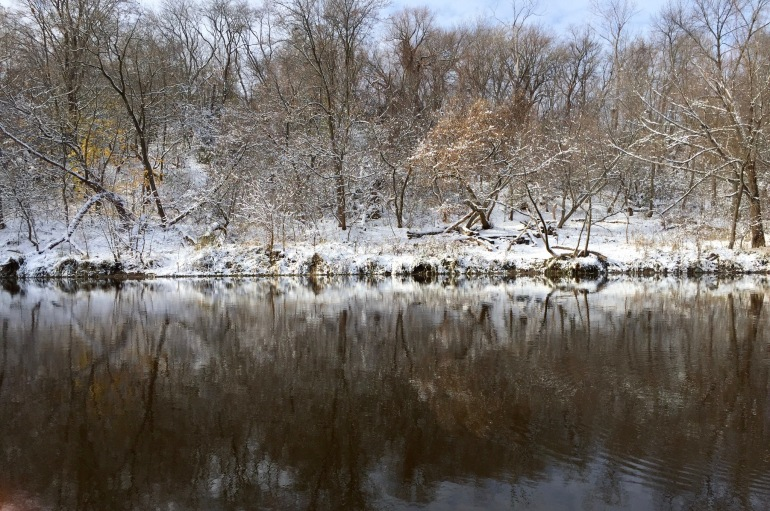 The river in white
